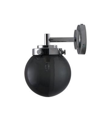 Luminaire - Appliques - Applique Mini Globe / Ø 12 cm - Verre soufflé - Original BTC - Verre anthracite / Chromé - Chrome poli, Verre soufflé