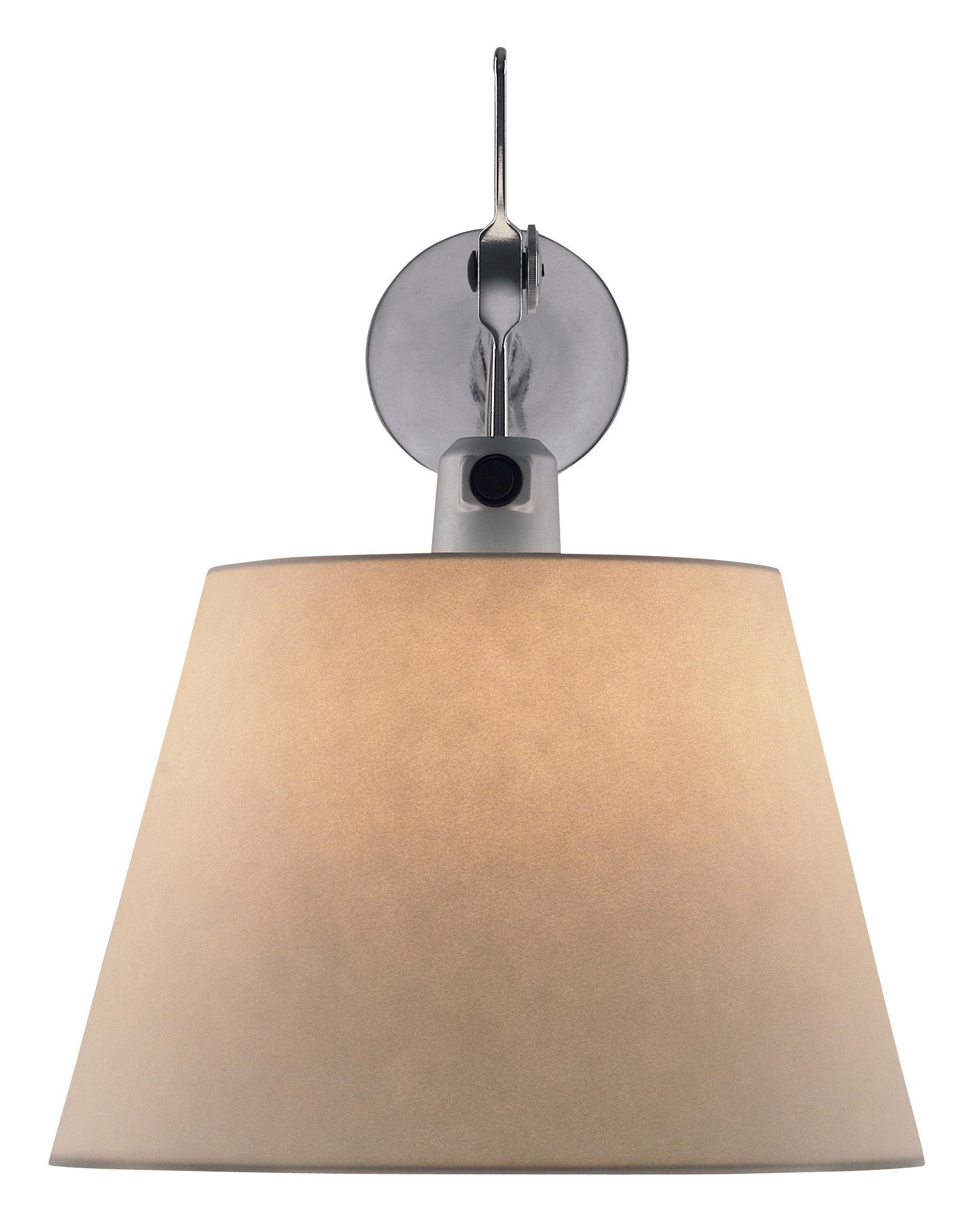 Luminaire - Appliques - Applique Tolomeo / Ø 18 cm - Artemide - Aluminium & papier parchemin - Aluminium brillant, Aluminium poli, Papier parchemin