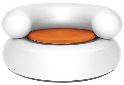Ch-air Aufblasbarer Sessel / Galette d'assise - Fatboy - Weiß,Orange