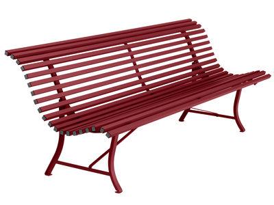 Banc avec dossier Louisiane / L 200 cm - Métal - Fermob rouge en métal
