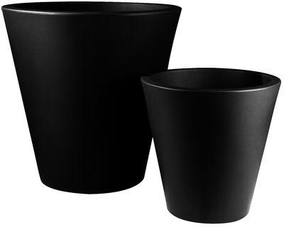 Outdoor - Töpfe und Pflanzen - New Pot Blumentopf H 60 cm - Serralunga - Schwarz - Polyäthylen