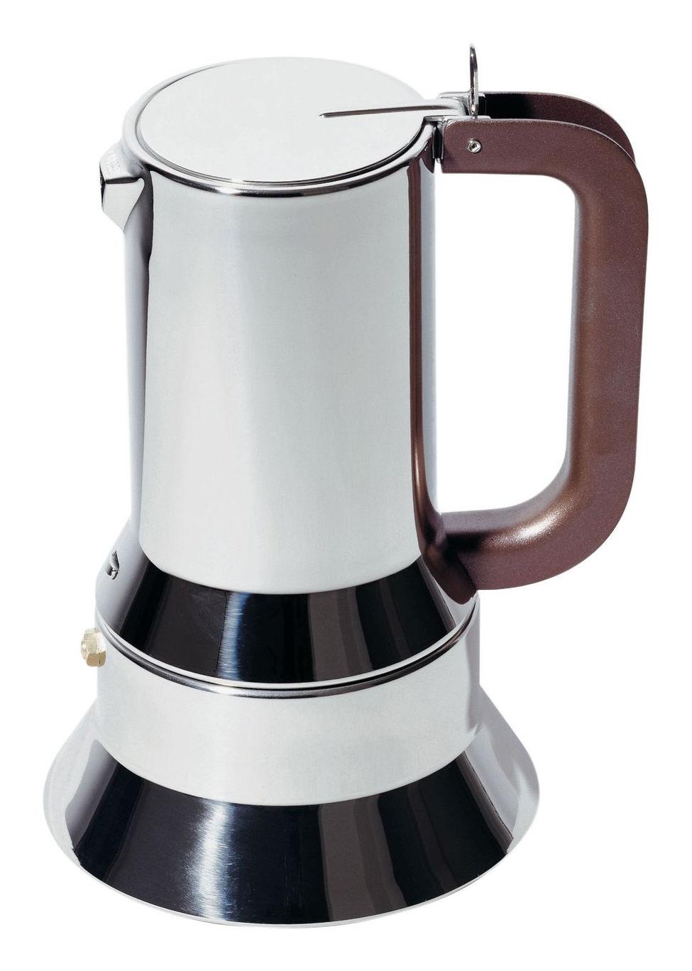 Tavola - Caffè - Caffettiera espresso italiano 9090 - da 3 a 6 tazze di Alessi - da 3 a 6 tazze - Acciaio inossidabile