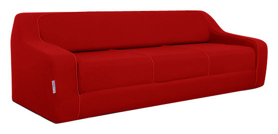 canap convertible loops by ora ito l 225 cm rouge passepoil rouge dunlopillo made in design. Black Bedroom Furniture Sets. Home Design Ideas