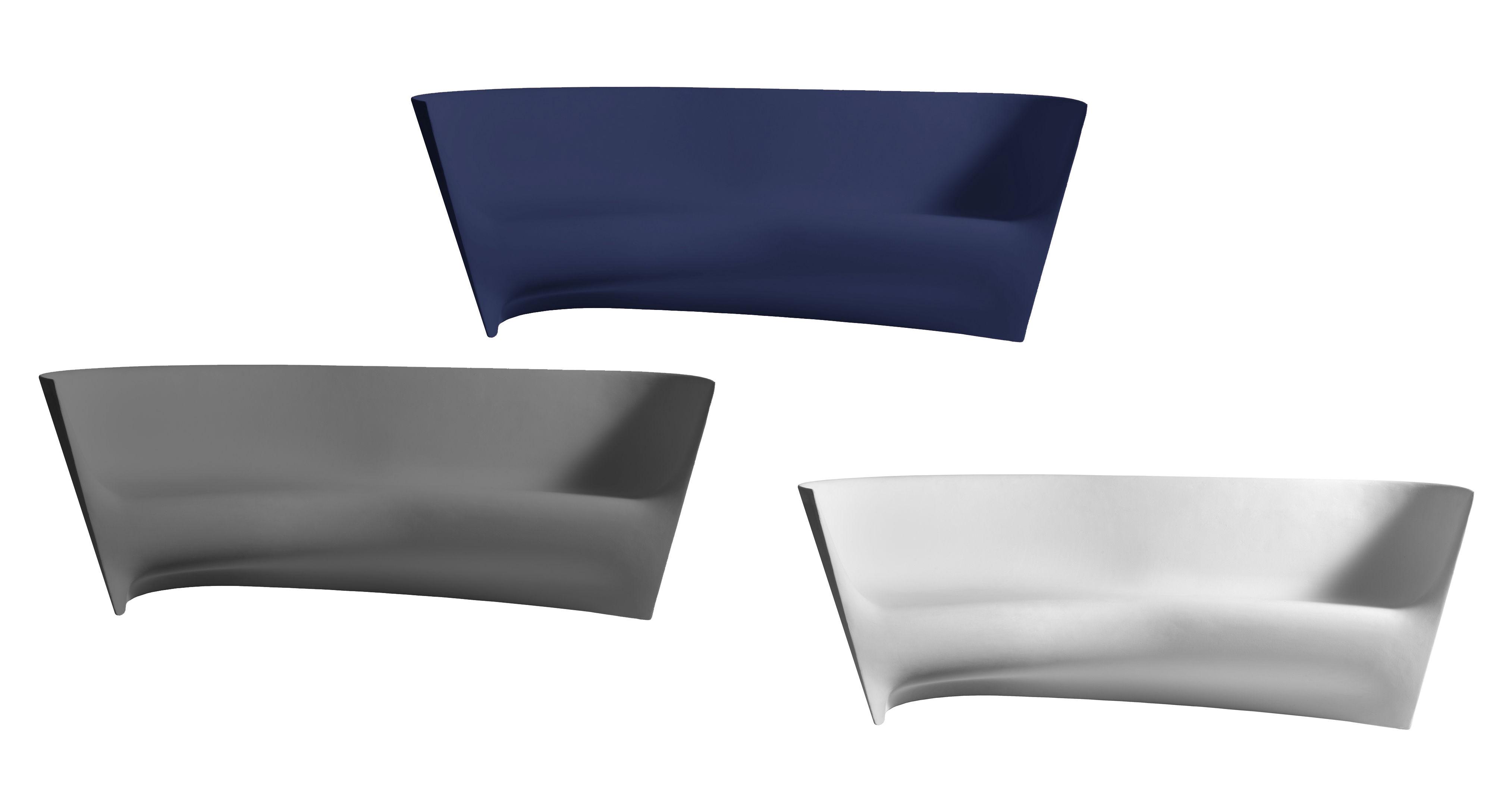 canap grand pli l 242 cm blanc driade made in design. Black Bedroom Furniture Sets. Home Design Ideas