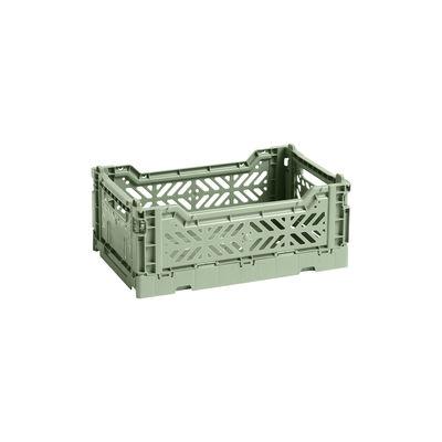 Image of Cestino Colour Crate - Small / 26 x 17 cm di Hay - Verde - Materiale plastico