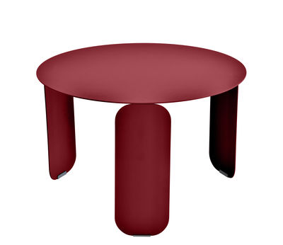 Furniture - Coffee Tables - Bebop Coffee table - / Ø 60 cm by Fermob - Pepper - Aluminium, Steel
