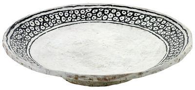 Coupe Milieux de vos tables / Ø 30 x H 8 cm - Papier peint main - Serax blanc/noir en papier