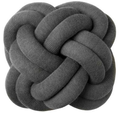 Coussin Knot - Design House Stockholm gris foncé en tissu