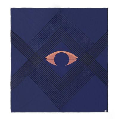 Couvre-lit The Eye AP9 / 240 x 260 cm - Coton biologique matelassé - &tradition bleu en tissu