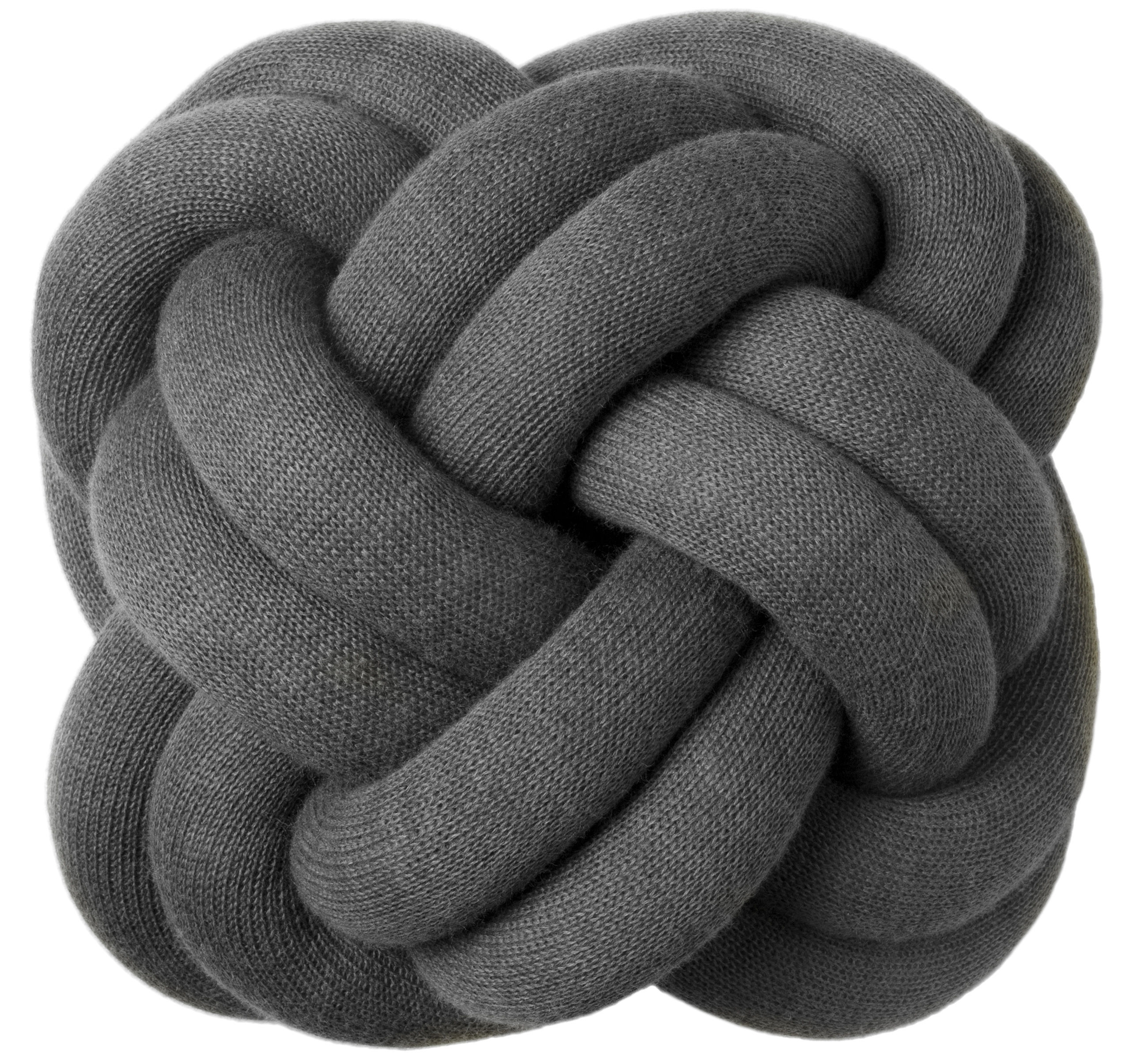 Decoration - Cushions & Poufs - Knot Cushion by Design House Stockholm - Dark grey - Fabric
