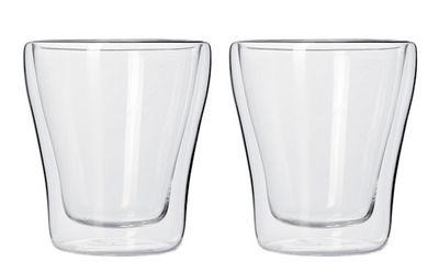 Tischkultur - Tassen und Becher - Duo double paroi Espressotasse / 2er-Set - 40 ml - Leonardo - Transparent - Glas