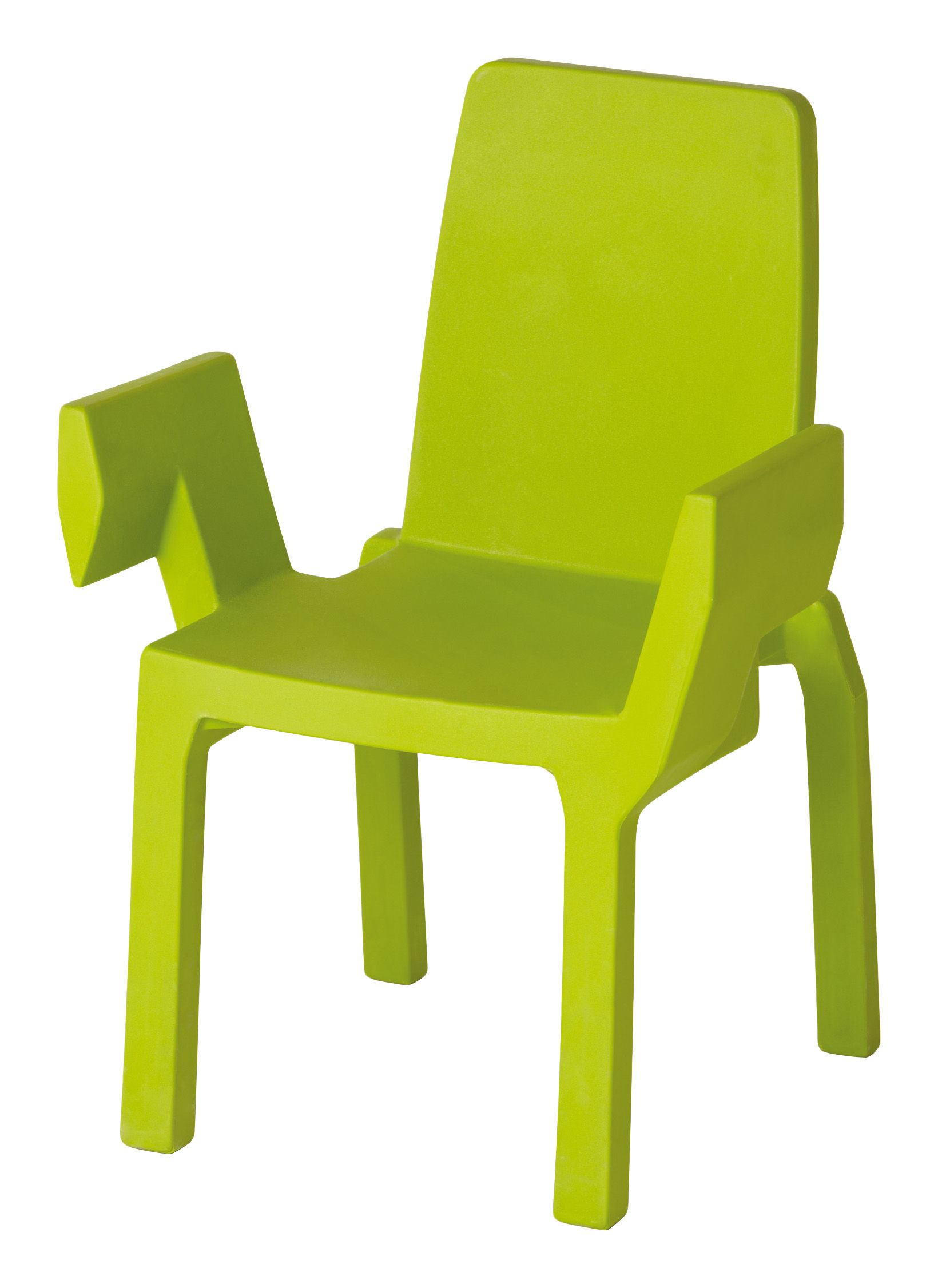 Mobilier - Chaises, fauteuils de salle à manger - Fauteuil empilable Doublix / Plastique - Slide - Vert - Polyéthylène
