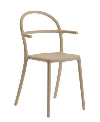 Mobilier - Chaises, fauteuils de salle à manger - Fauteuil empilable Generic C / Polypropylène - Kartell - Tourterelle - Prolypopylène