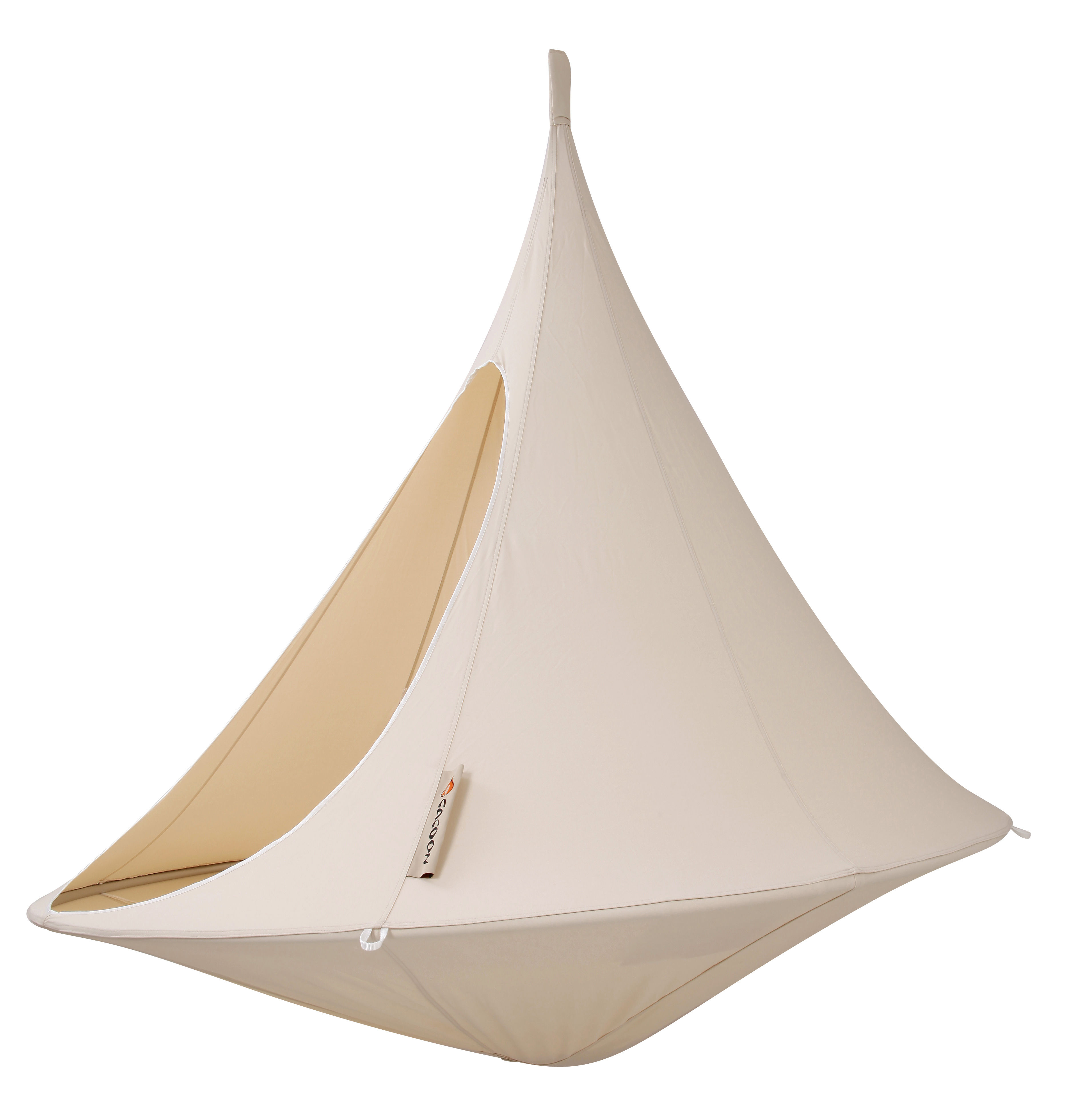 fauteuil suspendu cacoon blanc naturel h 150 x 180. Black Bedroom Furniture Sets. Home Design Ideas