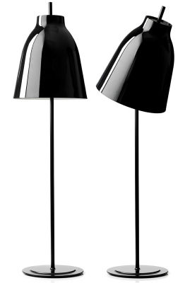 Lighting - Floor lamps - Caravaggio Floor lamp by Fritz Hansen - Black - Lacquered metal