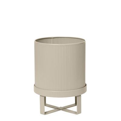 Outdoor - Pots & Plants - Bau Small Flowerpot - / Ø 18 cm - Metal by Ferm Living - Cashmere beige - Galvanized steel