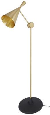 Luminaire - Lampadaires - Lampadaire Beat / H 168 cm - Tom Dixon - Laiton doré brossé - Fonte, Laiton