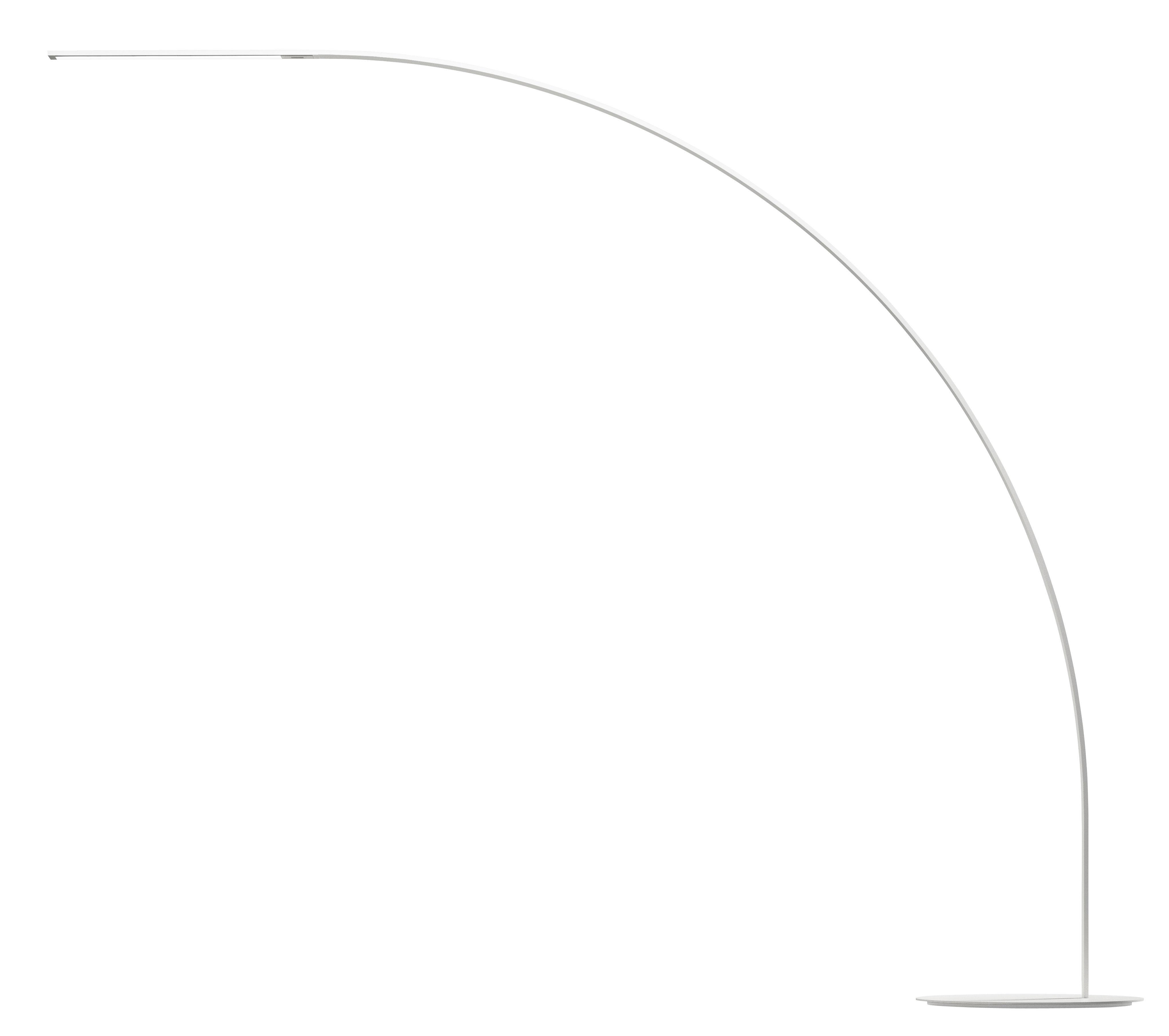 Luminaire - Lampadaires - Lampadaire Yumi LED / H 210 cm - Fontana Arte - Blanc - Aluminium, Matériau composite, Métal laqué