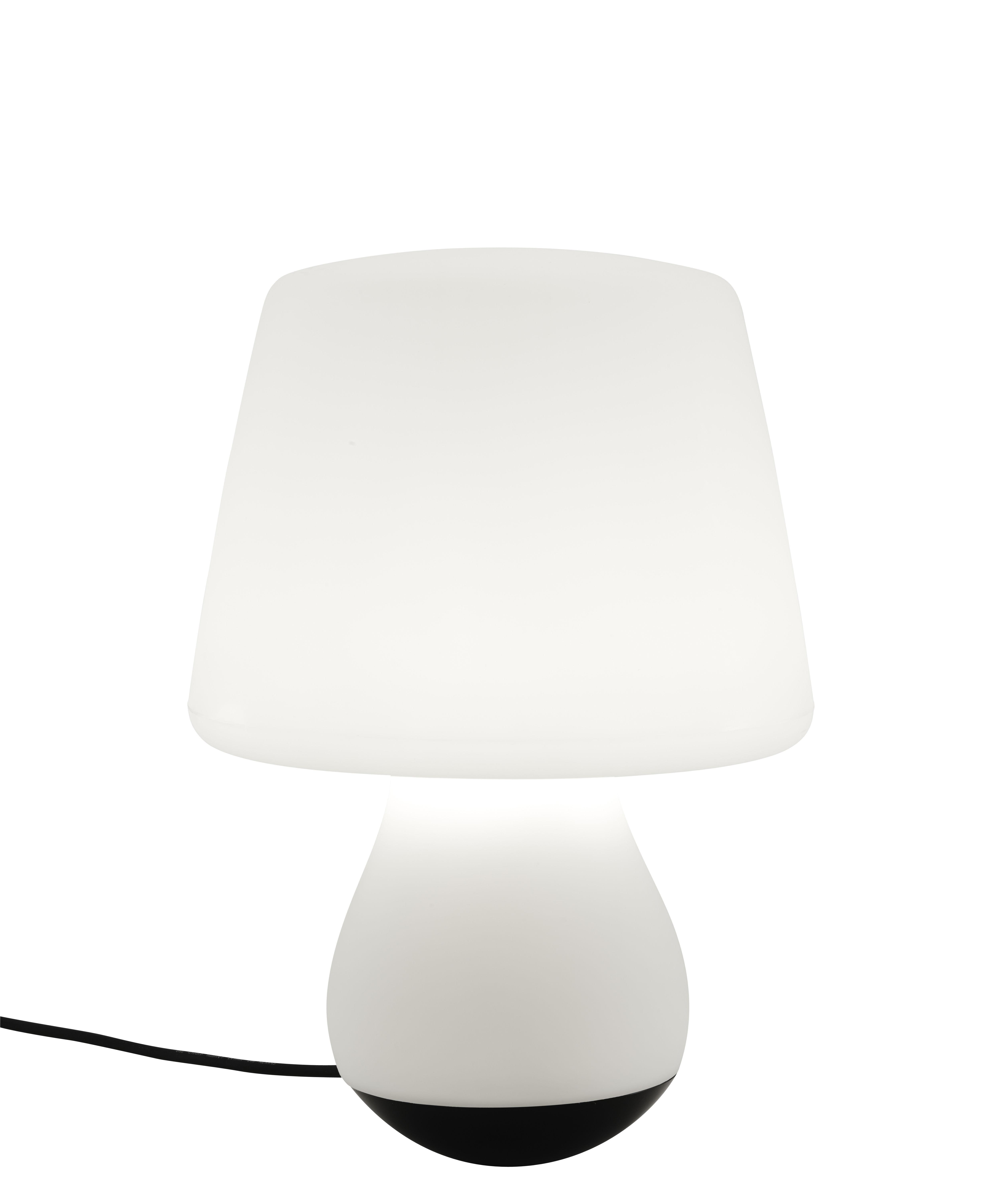 Luminaire - Lampes de table - Lampe à poser Mushroom / H 43 cm - Cinna - Blanc & noir - Acier laqué époxy, Polyéthylène