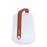 Lampe sans fil Balad Small LED / H 25 cm - Recharge USB - Fermob ocre rouge en matière plastique