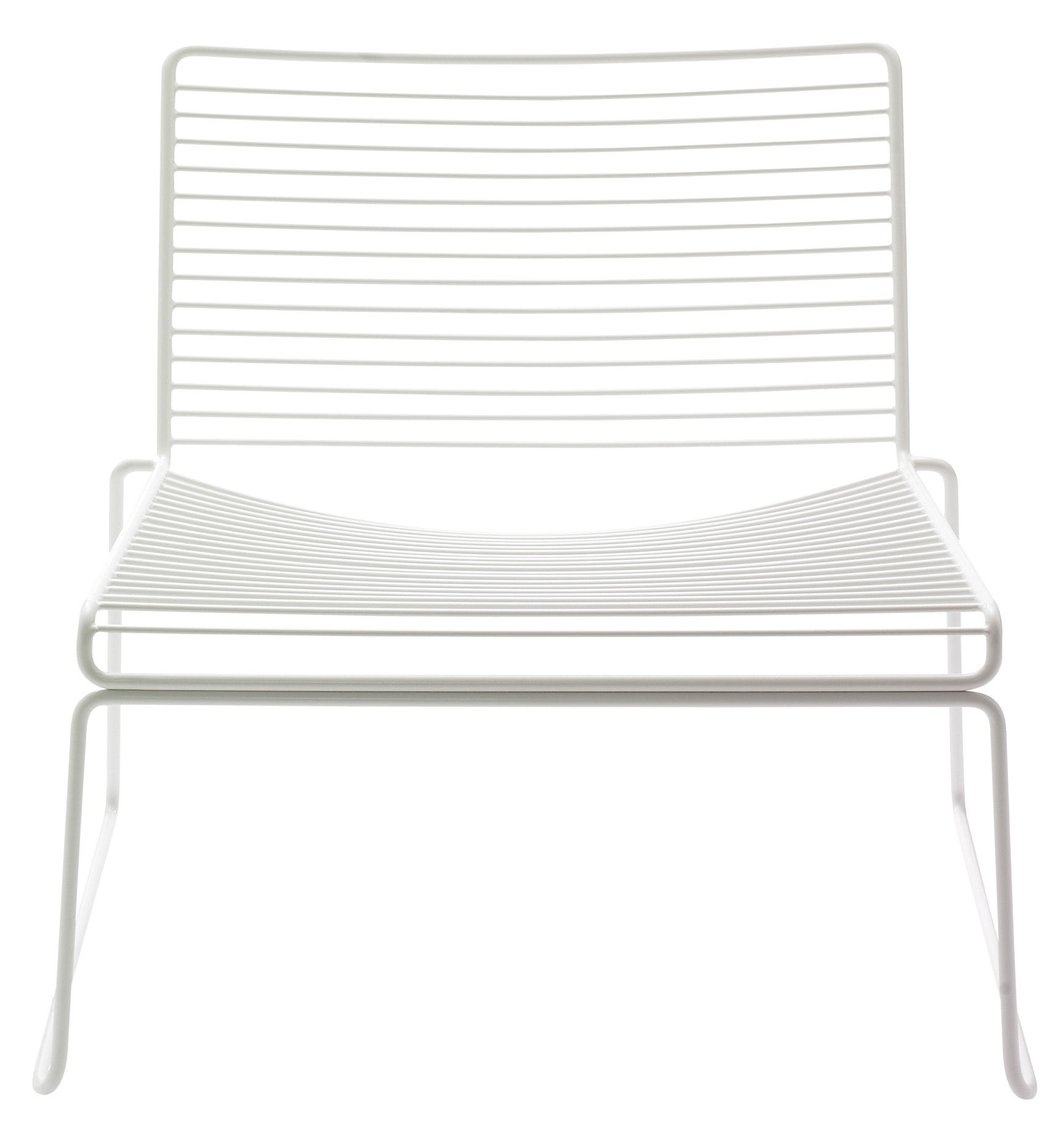 Furniture - Armchairs - Hee Low armchair by Hay - White - Lacquered steel