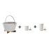 Pack promo /  Barbecue portable à charbon + 2 photophores LED H 9 & H 13 cm - Eva Solo