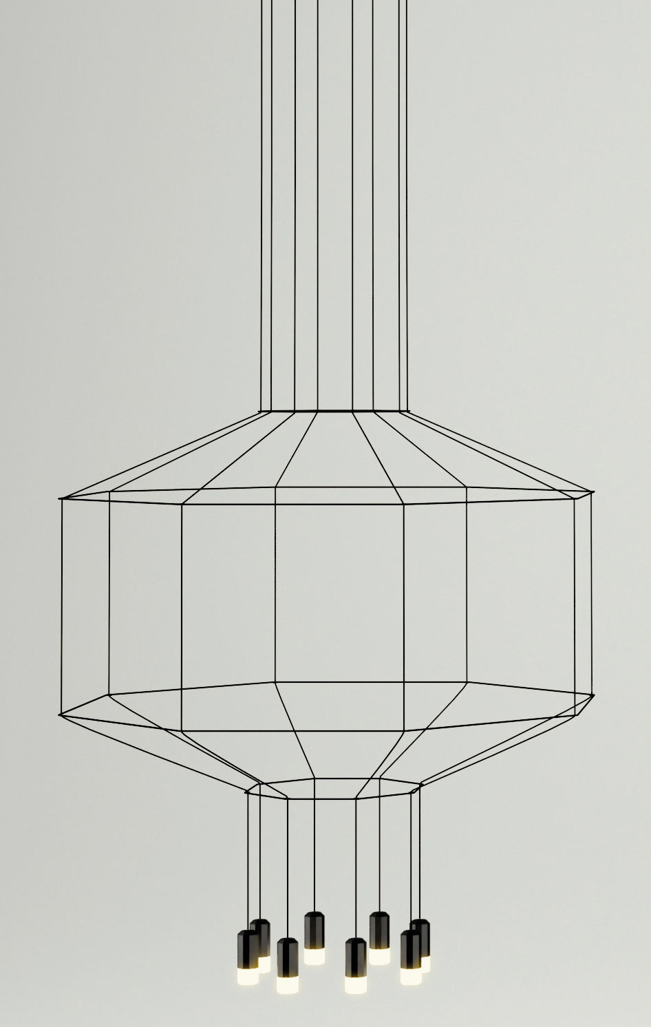 Lighting - Pendant Lighting - Wireflow Pendant by Vibia - Black - Fabric, Glass, Lacquered metal, Teflon