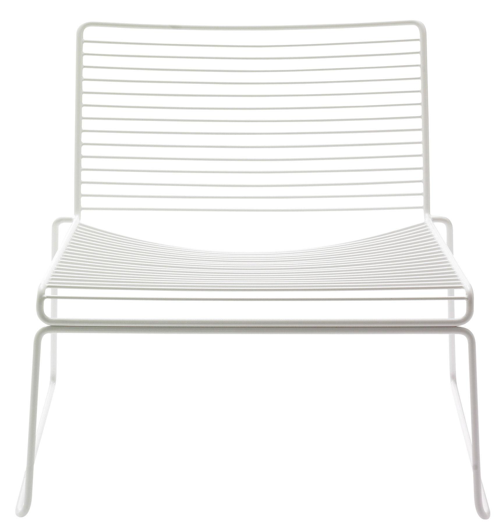 Arredamento - Poltrone design  - Poltrona bassa Hee - Poltrona bassa di Hay - Bianco - Acciaio laccato