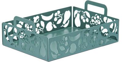 Tavola - Cesti, Fruttiere e Centrotavola - Portafrutta Ecco! - / 30 x 22 cm di Alessi - Verde - Acier inoxydable 18/10
