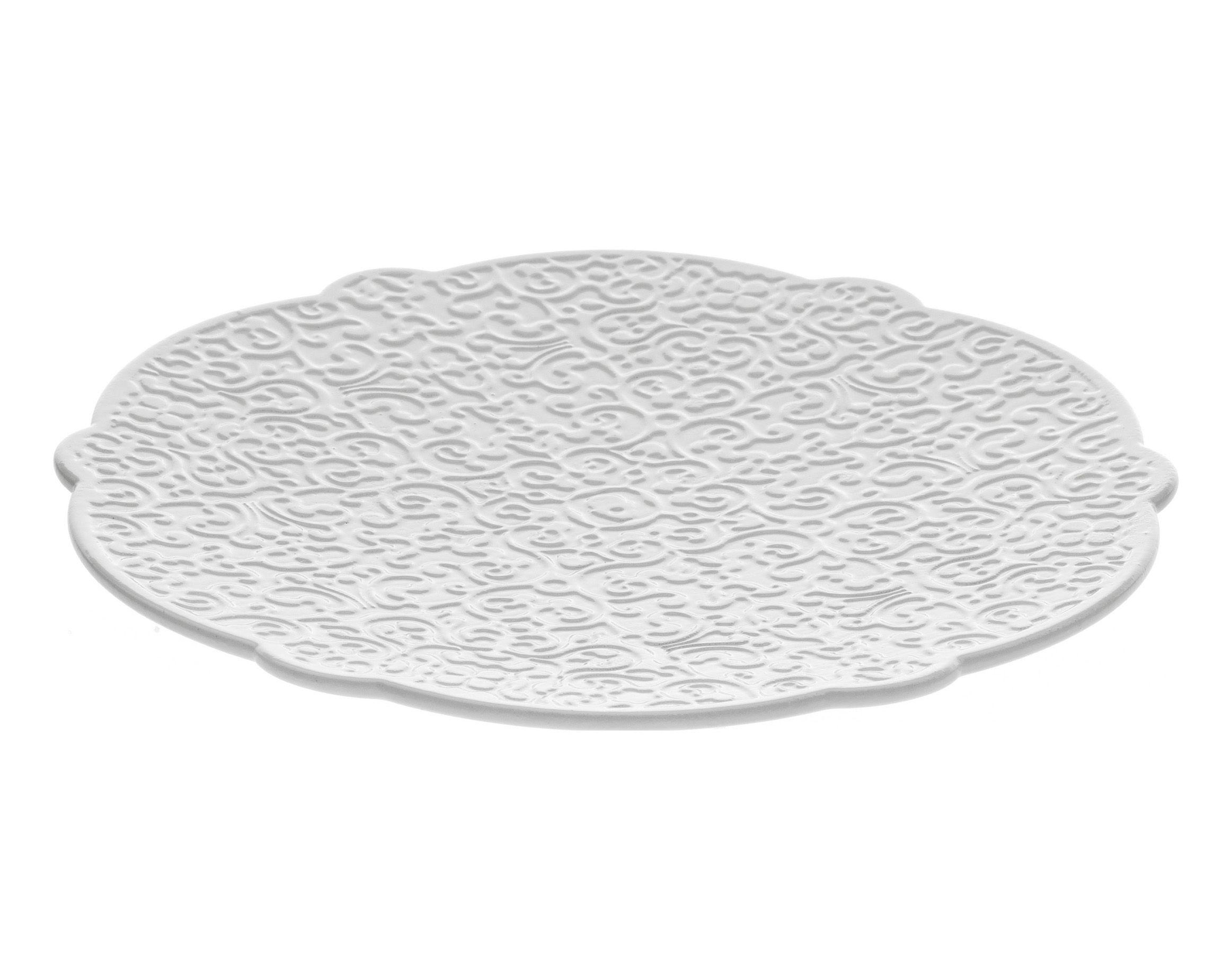 Arts de la table - Tasses et mugs - Soucoupe Dressed pour tasse à café - Alessi - Soucoupe pour tasse moka - Blanc - Porcelaine
