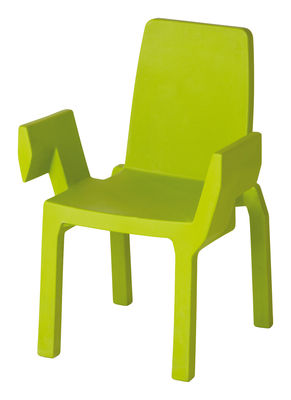 Furniture - Chairs - Doublix Stackable armchair - Plastic by Slide - Green - recyclable polyethylene