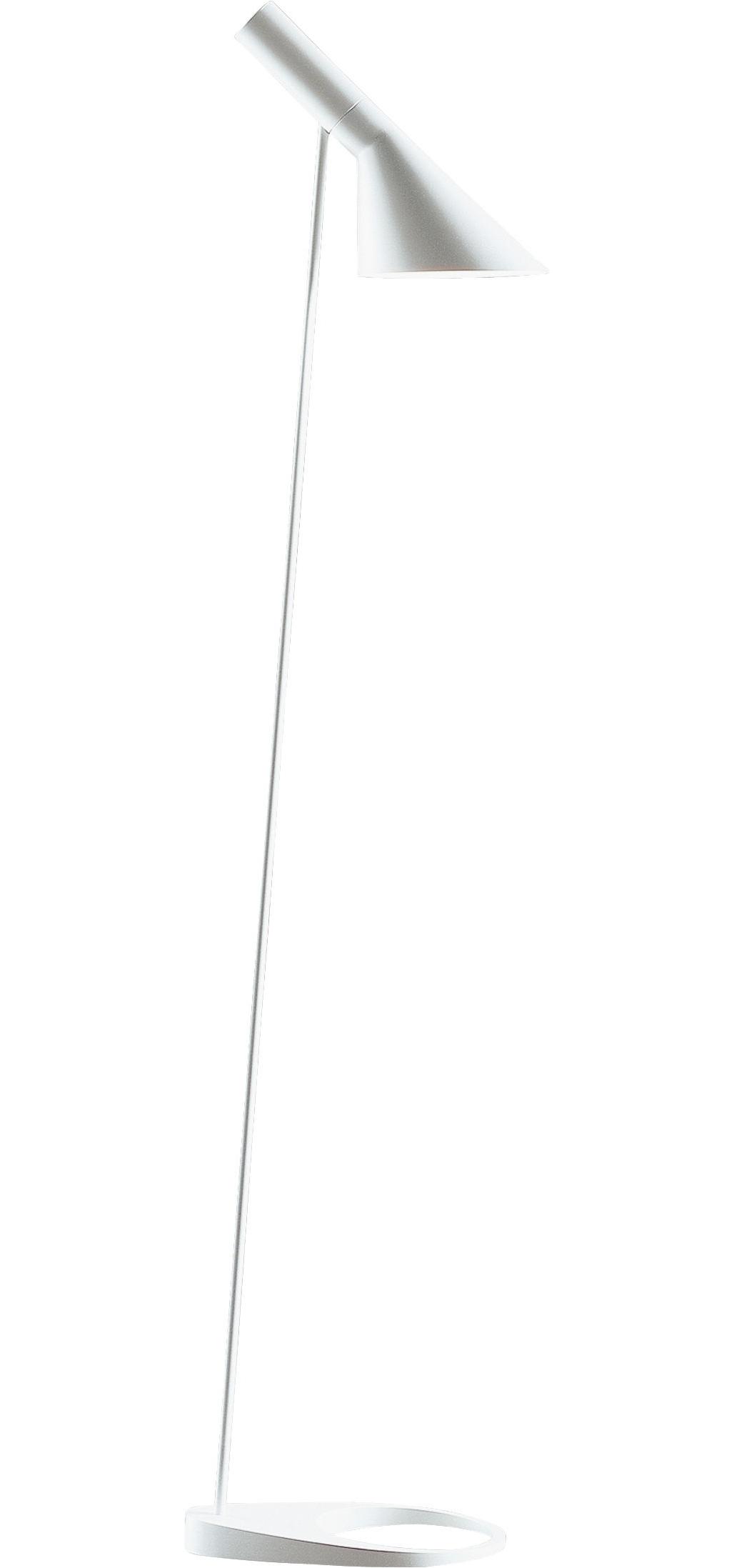 Leuchten - Stehleuchten - AJ Stehleuchte / H 130 cm - Louis Poulsen - Weiß - Fonte de zinc, Stahl