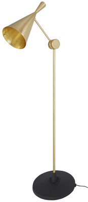 Beat Stehleuchte / H 168 cm - Tom Dixon - Messing Goldgebürstet