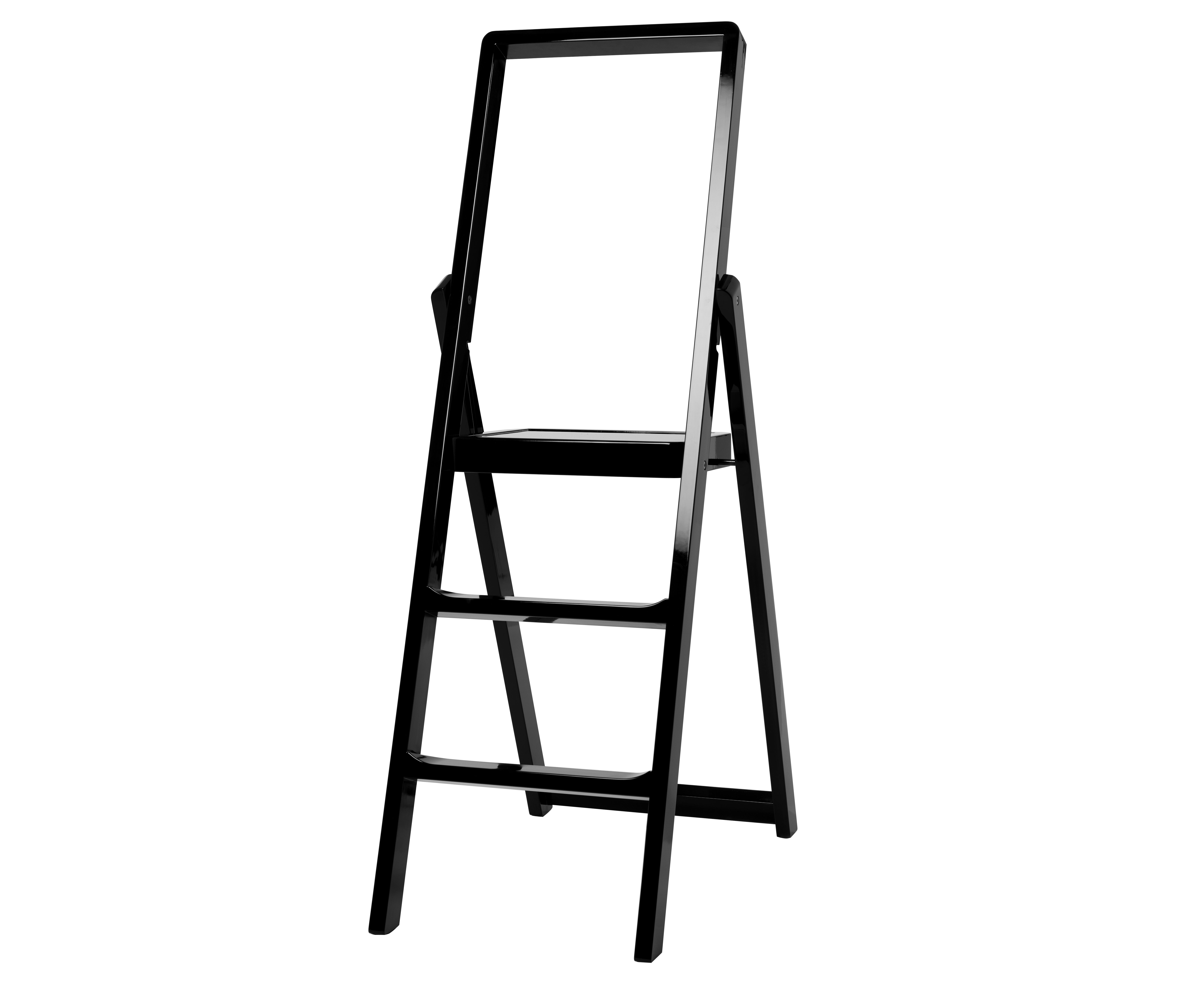 Furniture - Miscellaneous furniture - Step Stepladder - Foldable by Design House Stockholm - Black - Lacquered wood