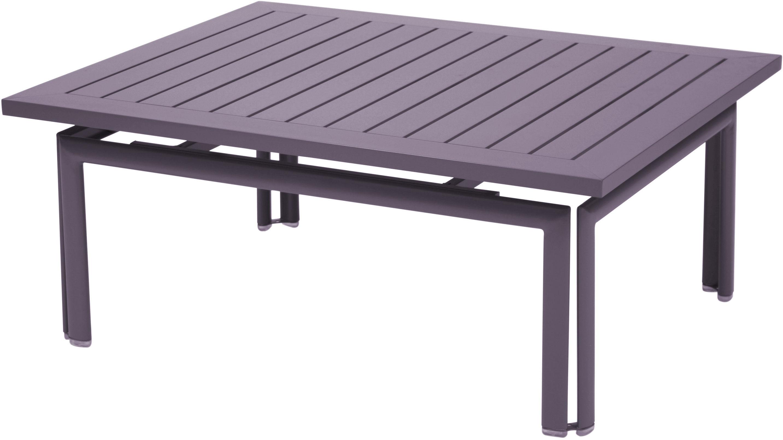 Mobilier - Tables basses - Table basse Costa / 100 x 80 cm - Fermob - Prune - Métal
