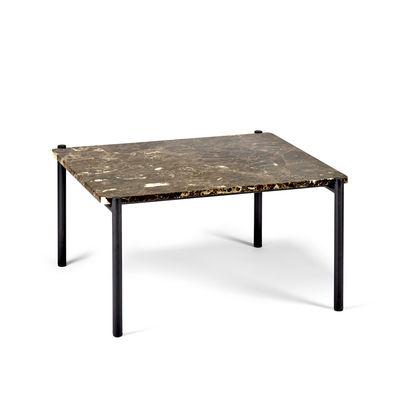 Mobilier - Tables basses - Table basse Curve / 60 x 70 cm - Marbre - Serax - Brun / Pieds noirs - Fer laqué, Marbre