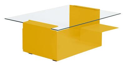 Table basse Diana D - ClassiCon jaune en métal/verre