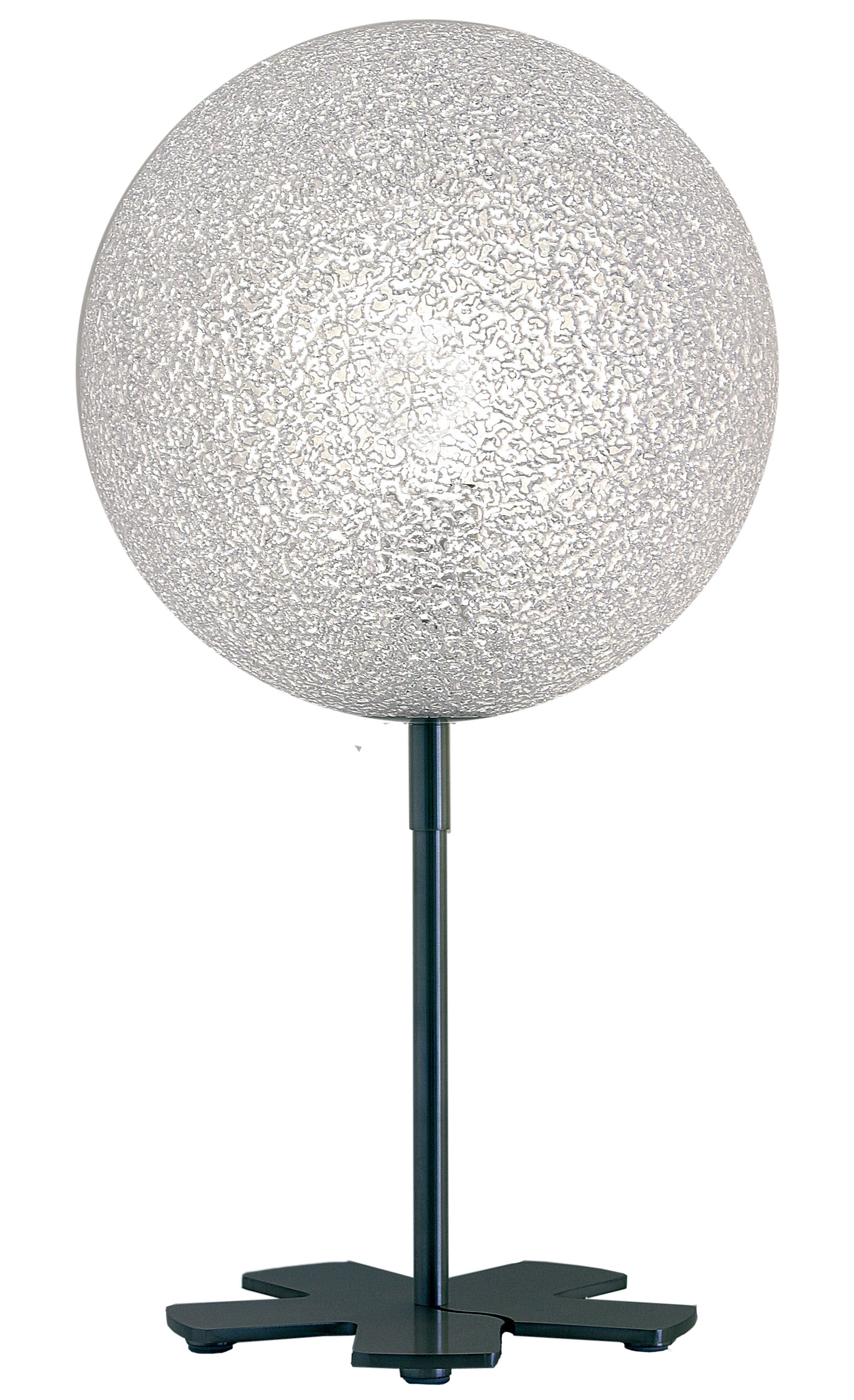 Lighting - Table Lamps - IceGlobe Table lamp by Lumen Center Italia - White - Brushed nickel, Polycarbonate