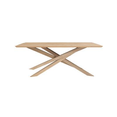 Table rectangulaire Mikado / Chêne massif - 203 x 106 cm / 8 personnes - Ethnicraft bois naturel en bois