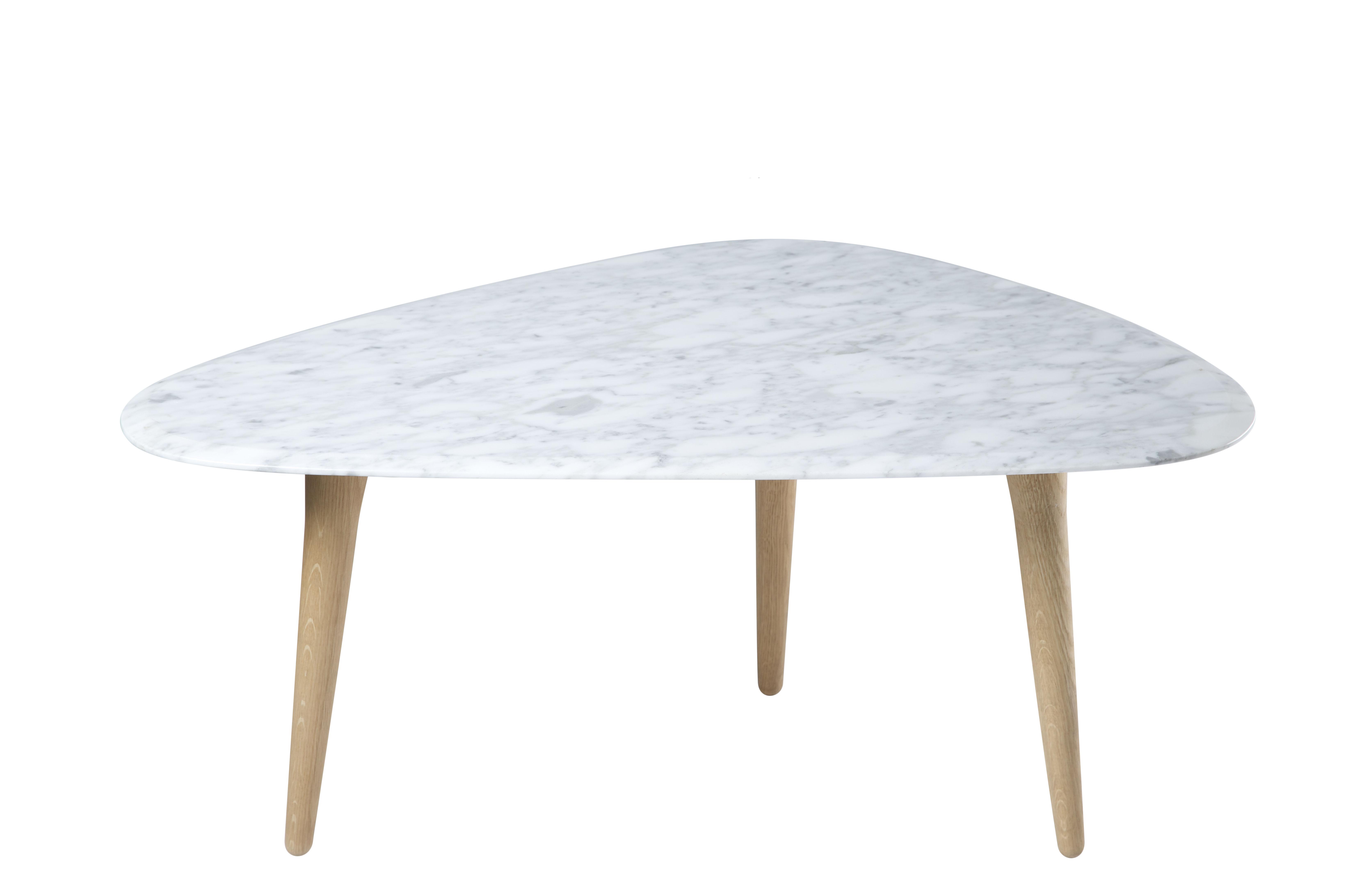 Arredamento - Tavolini  - Tavolino Small - / Marmo - 85 x 53 cm di RED Edition - Marmo Bianco / Rovere - Marmo, Rovere massello