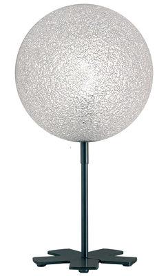Leuchten - Tischleuchten - IceGlobe Tischleuchte - Lumen Center Italia - Weiß - gebürstetes Nickel, Polykarbonat