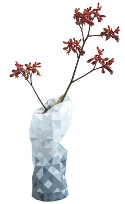 Decoration - Vases - Paper Vase cover - Ø 18  x H 42 cm by Pop Corn - Grey - Film coated paper