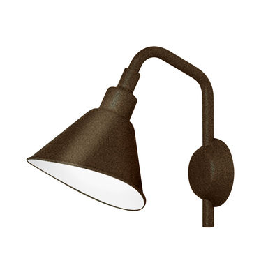 Lighting - Wall Lights - Smash Small Wall light - L 25 x H 32 cm by Diesel with Foscarini - Rust - Varnished aluminium, Varnished metal