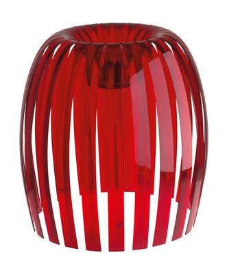 Abat-jour Josephine XL / Ø 50 x H 47,5 cm - Koziol rouge transparent en matière plastique