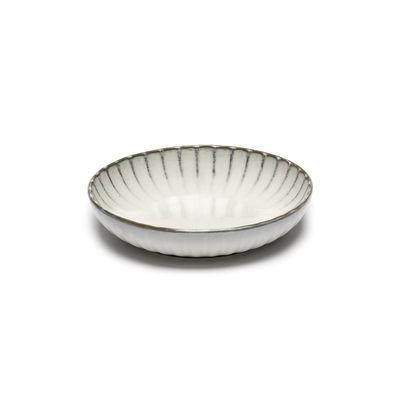 Arts de la table - Assiettes - Assiette creuse Inku / Small - Ø 19 cm - Serax - Ø 19 cm / Blanc - Grès émaillé