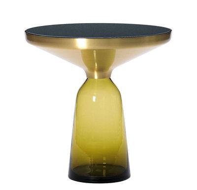 Bell Side Beistelltisch Ø 50 x H 54 cm - ClassiCon - Schwarz,Messing,Topazgelb