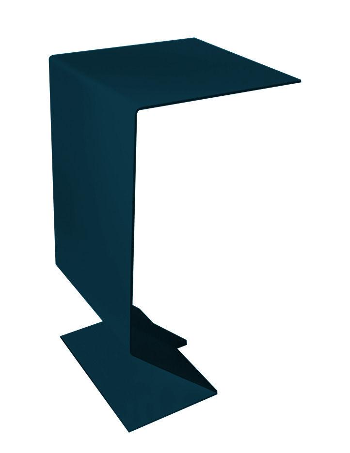 Möbel - Couchtische - Mark Beistelltisch - Moroso - Petrolblau - gefirnister Stahl