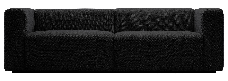 Mobilier - Canapés - Canapé droit Mags / 2 à 3 places - L 228 cm / Tissu Hallingdal - Hay - Gris foncé - Tissu