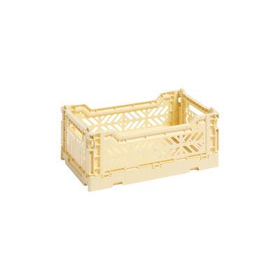 Image of Cestino Colour Crate - Small / 26 x 17 cm di Hay - Giallo - Materiale plastico