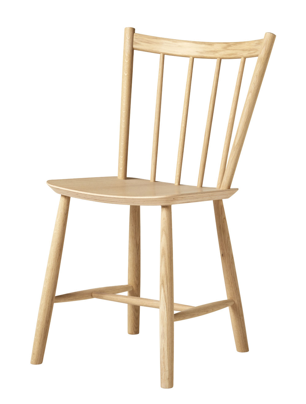 Furniture - Chairs - J41 Chair - / Wood by Hay - Matt lacquered oak - Lacquered oak